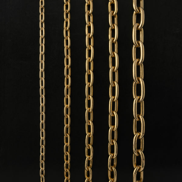 14K SOLID GOLD OVAL LINK CHAIN