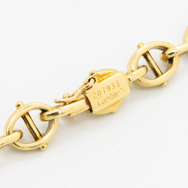 CARTIER 18K YELLOW, WHITE GOLD AND DIAMOND MARINE LINK SHORT COLLAR c.1970s