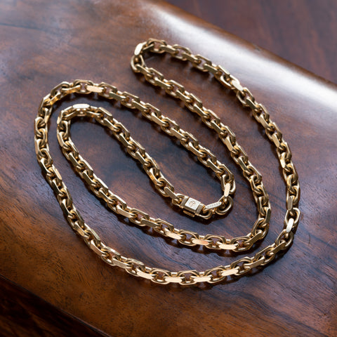 TIFFANY & CO. SOLID 18K YELLOW GOLD LINK CHAIN c.1970s