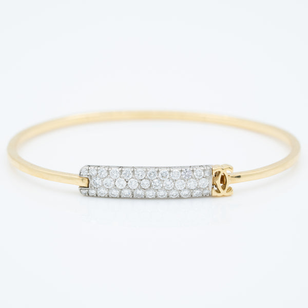 CARTIER 18K YELLOW GOLD 1.20CTS. DIAMOND BANGLE c.1980s