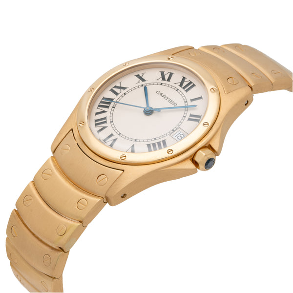 CARTIER 18K YELLOW GOLD SANTOS RONDE MODEL W20028G1