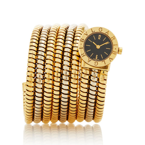BVLGARI YELLOW AND WHITE GOLD TUBOGAS WRAP BB191T