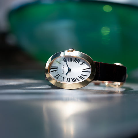 CARTIER 18K YELLOW GOLD BAIGNOIRE MODEL W8000009