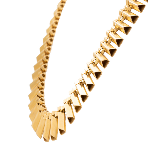 RETRO FRENCH 18K YELLOW GOLD NECKLACE c.1940s