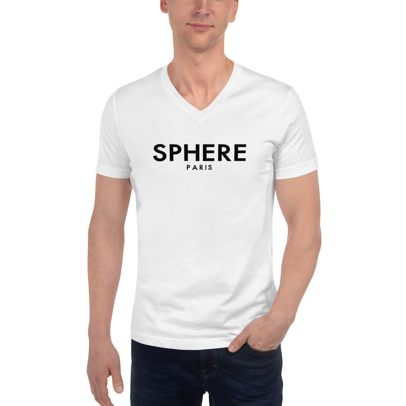 Sphere Paris - Premium Men's V-Neck T-Shirt - White