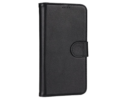 Premium Leather Wallet Case with Stand