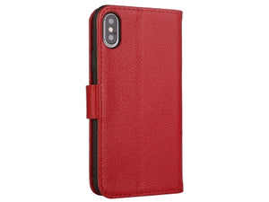iPhone Xs Max Premium Leather Wallet Case with Stand