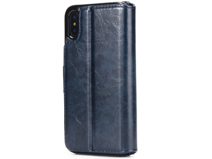 iPhone Xs Max 2-in-1 Synthetic Leather Wallet Case