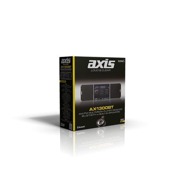 AX1300BT 12/24V MECHLESS with BLUETOOTH -SHORT CHASSIS (120mm)