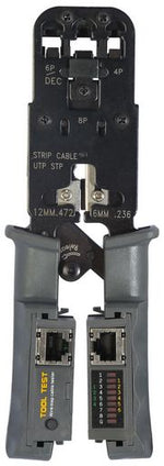 CRIMPING TOOL - MODULAR WITH CABLE TESTER