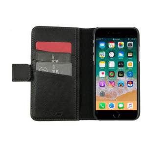 NVS Executive Wallet Folio for iPhone 8/7 Plus with Detachable Case - Black