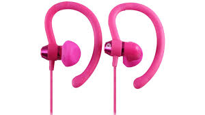 90° Sports Pink Earphones