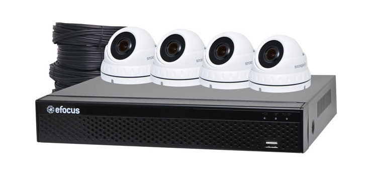 5MP Surveillance CCTV DVR + 4 Camera Dome Package