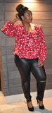red dotted top plus size