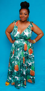 Pineapple Princess -Plus Maxi Dress | Resort Collection