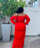 Red Sangria Dress- New