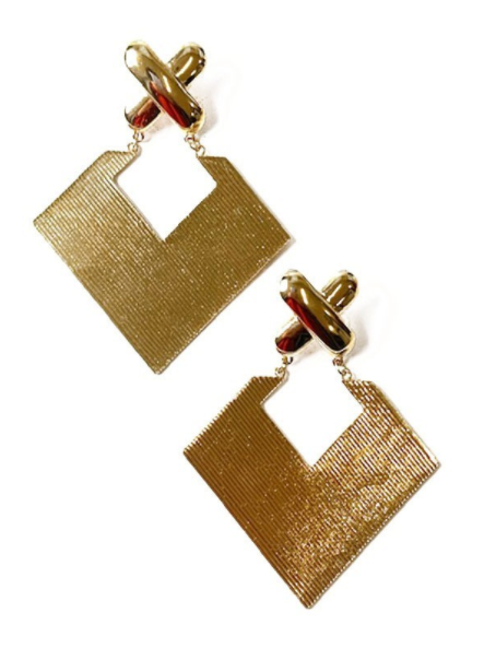 X-Factor -Earring -Gold
