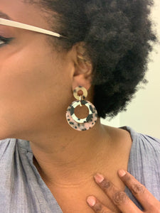 Ohhh Multi colored Tortoise earring