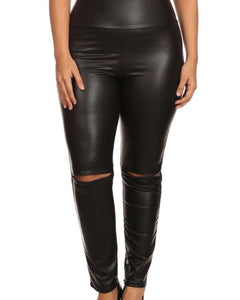 Biker Leather Leggings