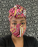 Geo Woman-headwrap and Mask