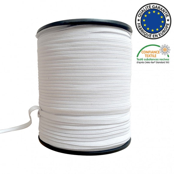 Elastic-5mm white Mask elastic-10 yards