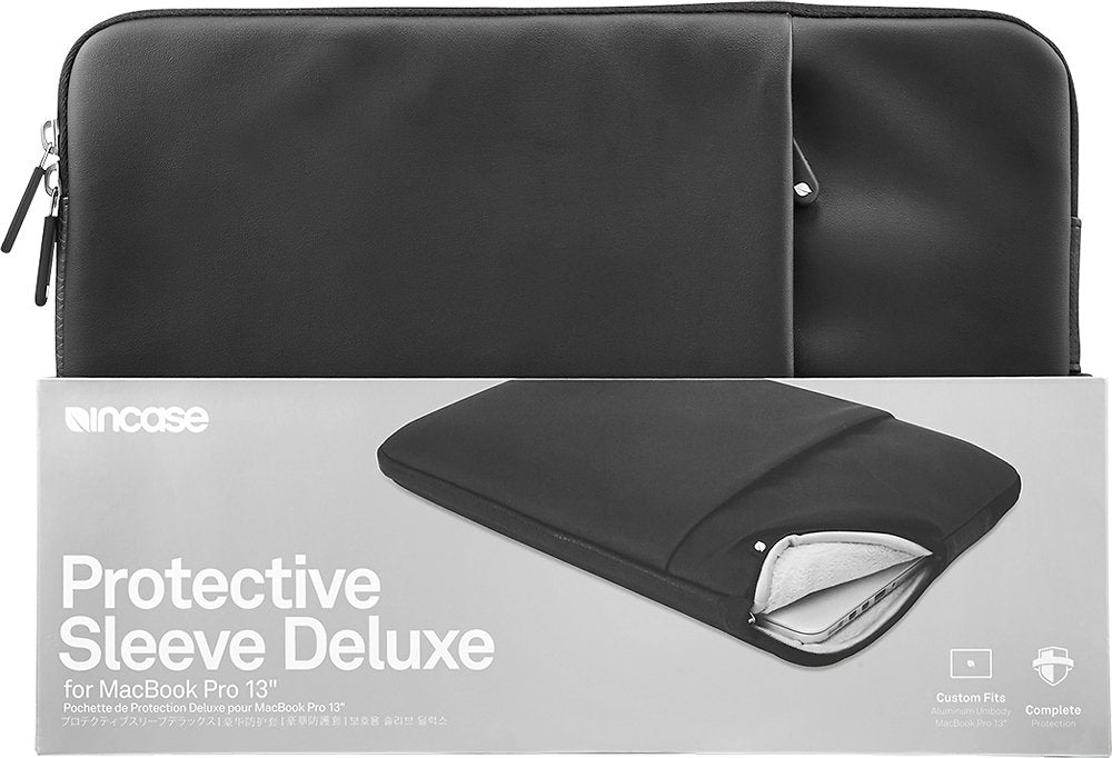 "Incase 13"" Black Protective Sleeve Deluxe for MacBook Pro/Air"