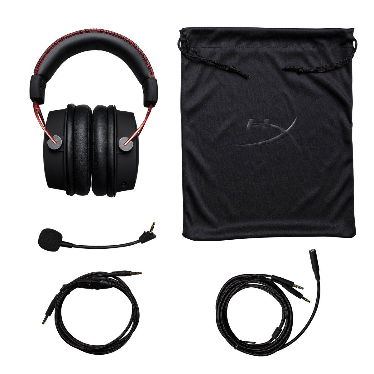 HyperX Cloud Alpha Pro Wired Gaming Headset (Red & Black)