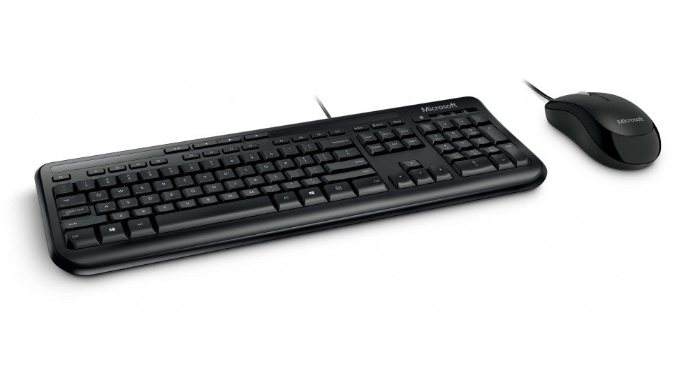Microsoft 600 Desktop Wired Keyboard & Mouse Combo (Black)
