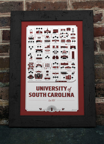 University of South Carolina Map