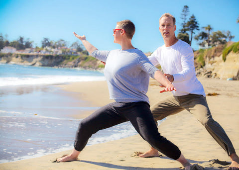Lee Holden personally training Emily Drysdale from Bliss Calm Qigong