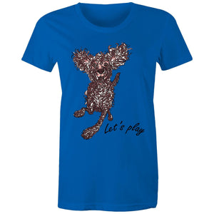 Let's Play Pup - Women's Maple Tee