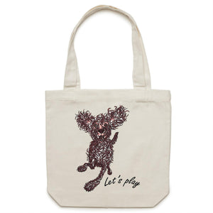 Let's play Pup - Canvas Tote Bag
