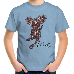 Let's Play Pup Kids Youth Crew T-Shirt