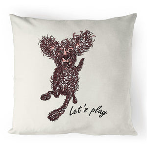 brown pup cushion cover