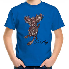 Load image into Gallery viewer, Let's Play Pup Kids Youth Crew T-Shirt