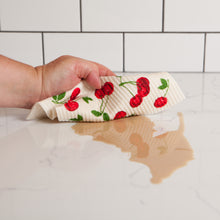Load image into Gallery viewer, Cherries Swedish Sponge Cloth