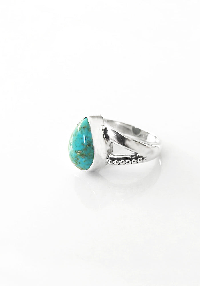 Genuine Turquoise Ring set in 925 Sterling silver by Lakiki Jewellery