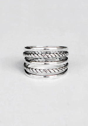 Aviana Ring 925 Sterling Silver Stackable Ring by Lakiki Jewellery