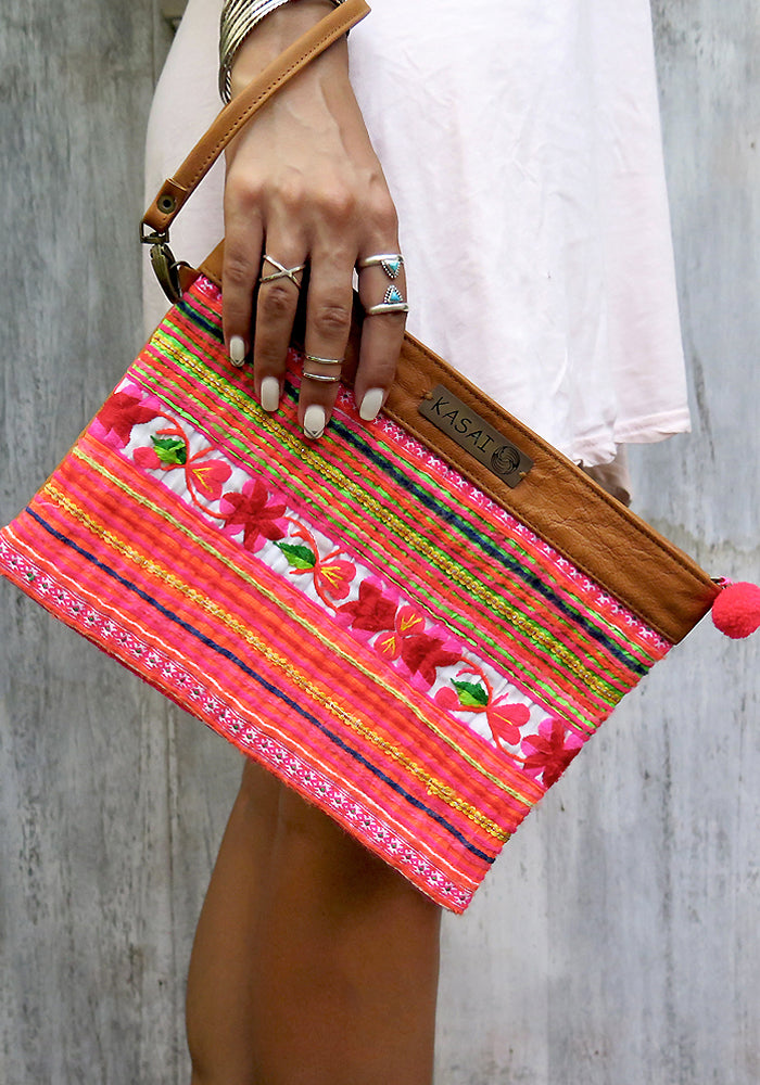 Kasai Exotic Dreams Boho Leather Clutch Wallet featured on Lakiki Jewellery