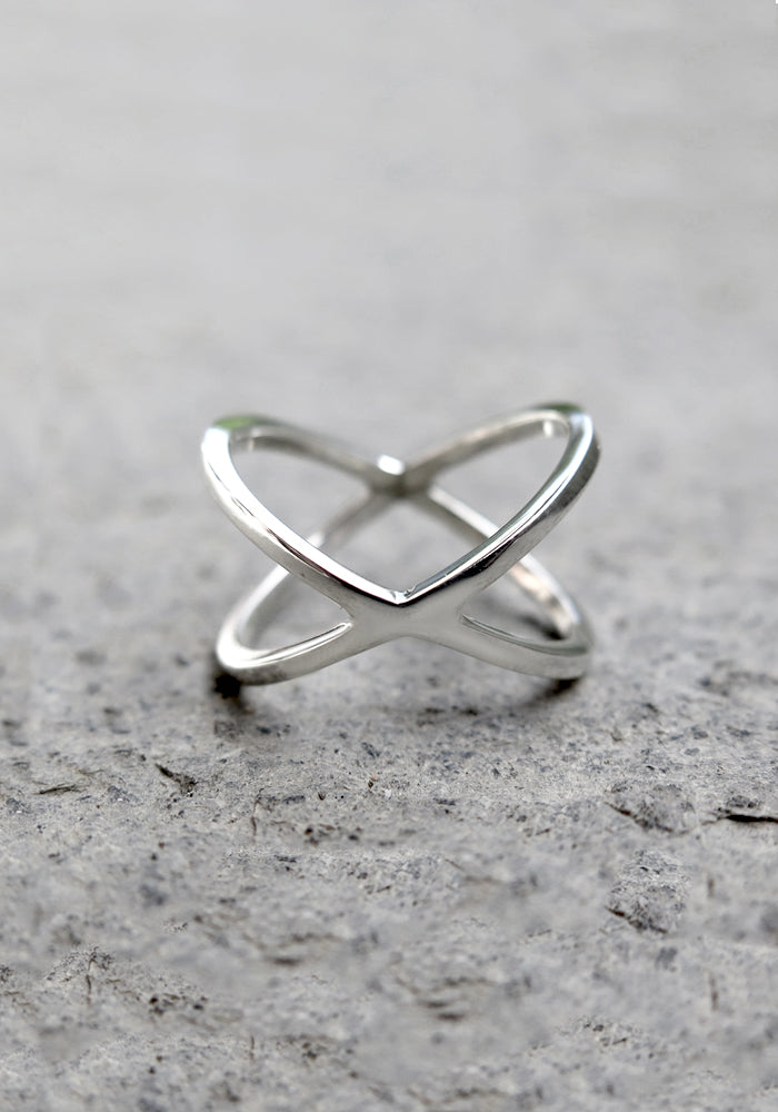 925 Sterling Silver Farah Ring Stackable Jewellery by Lakiki Jewellery