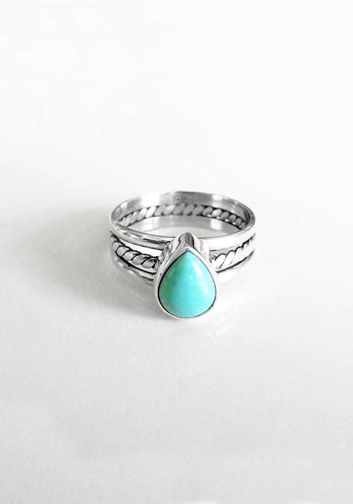 Kaia Turquoise Ring by lakiki Jewellery