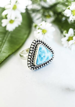 Yandi Rope Larimar Ring