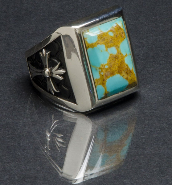 Stone Temple Ring Turquoise
