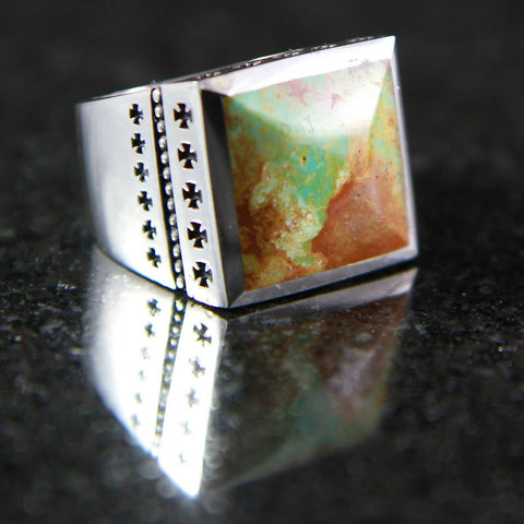 Thirty Two Cross Turquoise Ring