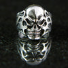 Flaming Skull Ring