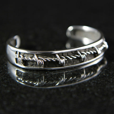Barbed Wire Inset Women's Cuff #MC01CB