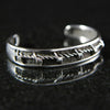 Barbed Wire Inset Men's Cuff #MC01CB