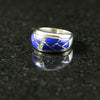 DeAcoma Convergence Ring with Scalloped Inlay