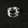 Onyx Squared Center Pathways Ring