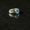 Lightning Ring with Swiss Blue Topaz